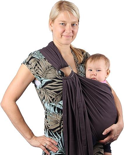 /Écharpe de portage en coton de marque Neotech Care Beige Porte-b/éb/é ventral mains libres