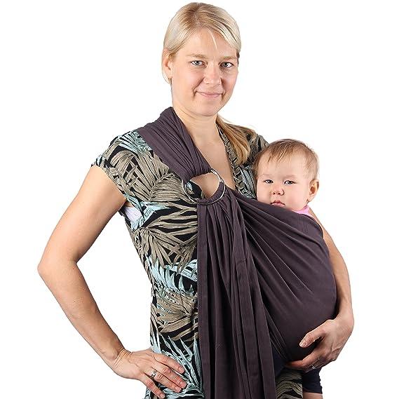 Écharpe de portage avec anneau d ajustement - Porte-bébé ventral ou dorsal  de marque Neotech Care - Réglable - Matériau respirant - Couleur beige  ... 30f00c5f962