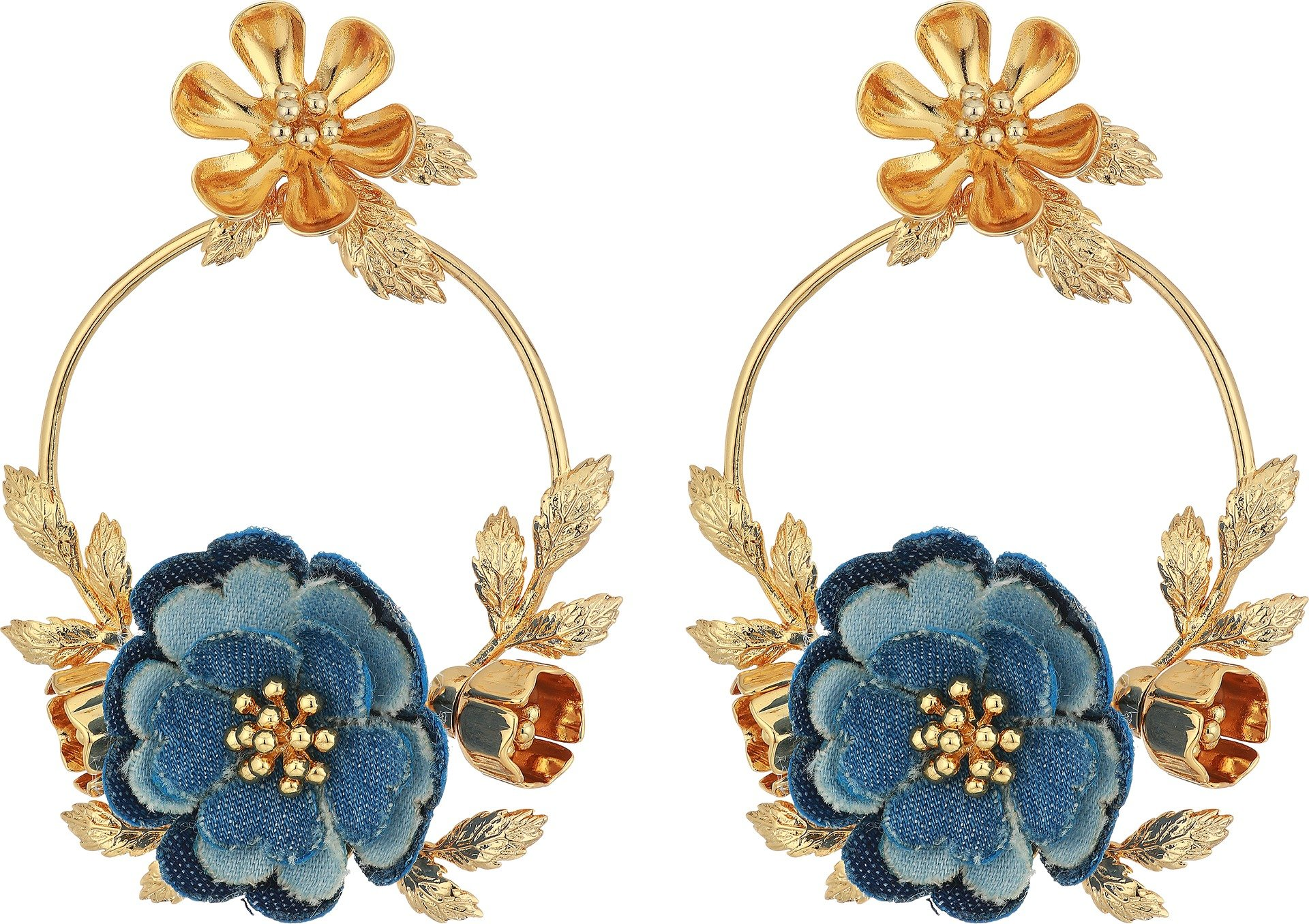 Kate Spade New York Women's Flower Child Door Knocker Earrings Blue Multi One Size