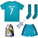 35d3cb917 GamesDur 2018/2019 Ronaldo #7 Third Black Soccer Kids Jersey & Short & Sock