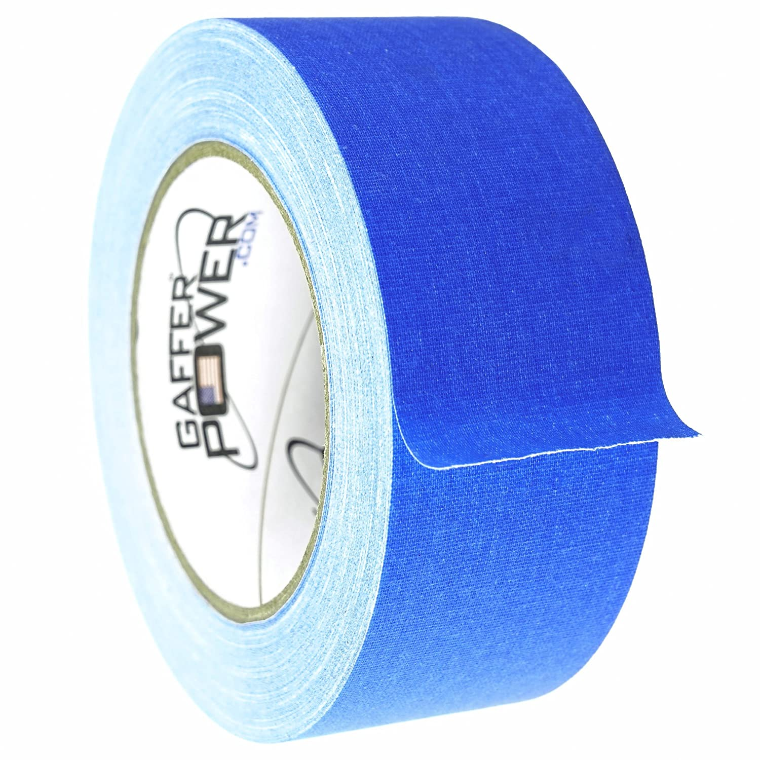 Real Professional Grade Gaffer Tape by Gaffer Power,- Made in The USA, Electric Blue- 2 Inches X 30 Yards, Heavy Duty Gaffers Tape, Non-Reflective, Multipurpose, Better Than Duct Tape.