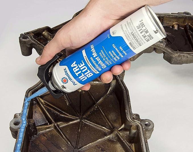 Amazon.com: Permatex 85519 Sensor-Safe Ultra Blue RTV Silicone Gasket Maker, 9.5 oz. PowerBead Can: Automotive