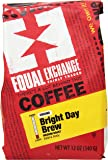 Equal Exchange Bright Day Brew, Ground Coffee, Medium Roast, 12-Ounce Bags (Pack of 3)