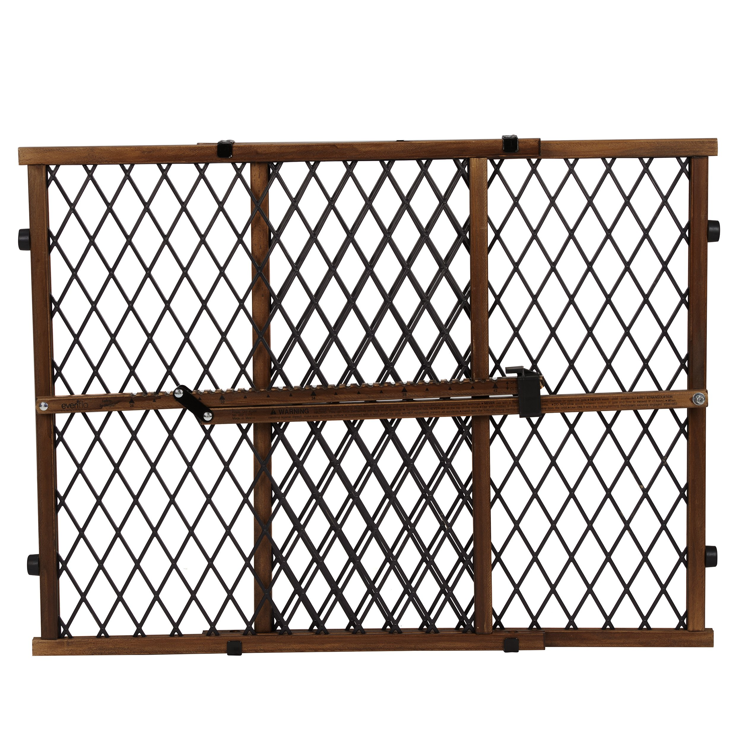 Evenflo Position and Lock Farmhouse Pressure Mount Gate, Dark Wood by Evenflo