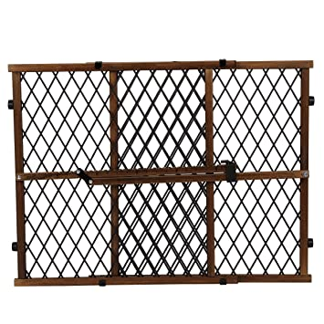 Evenflo Position And Lock Farmhouse Pressure Mount Gate Dark Wood