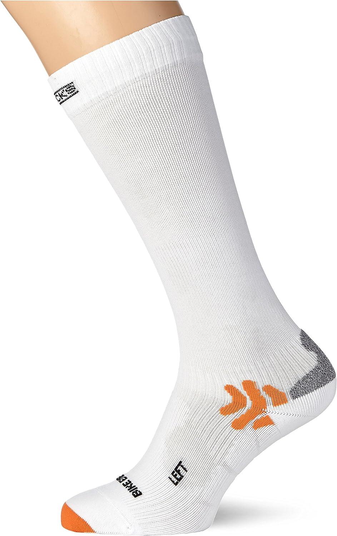 Taglia 35-38 Calze Bici Bike Racing Energizer X-Socks Bassa Compressione Bianco