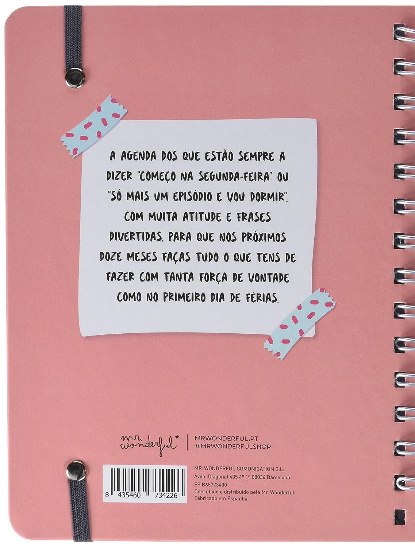 Mr. Wonderful Agenda, Rosa, Medidas: 15 X 19,5 X 3,2 cm ...