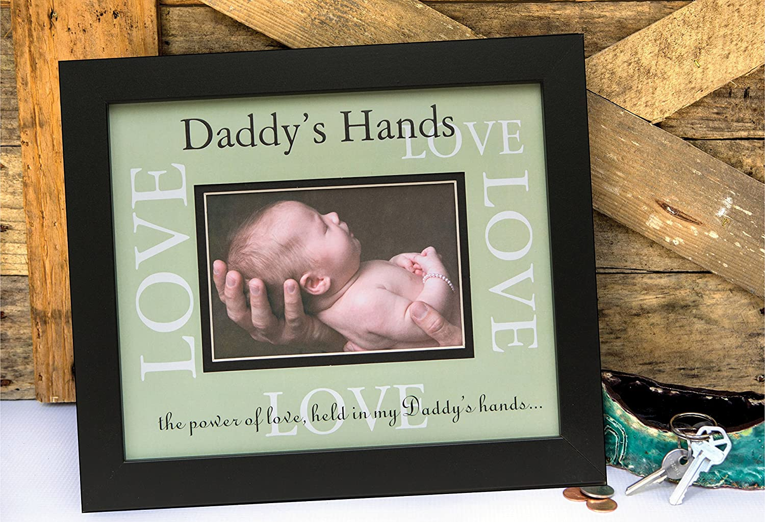 Amazon.com : The Grandparent Gift Co. Daddy\'s Love Frame : Baby ...