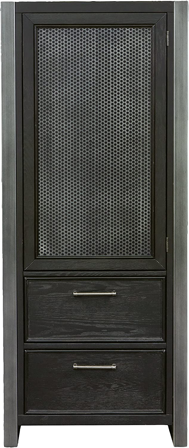 Right2Home Pulaski Graphite Door Wardrobe