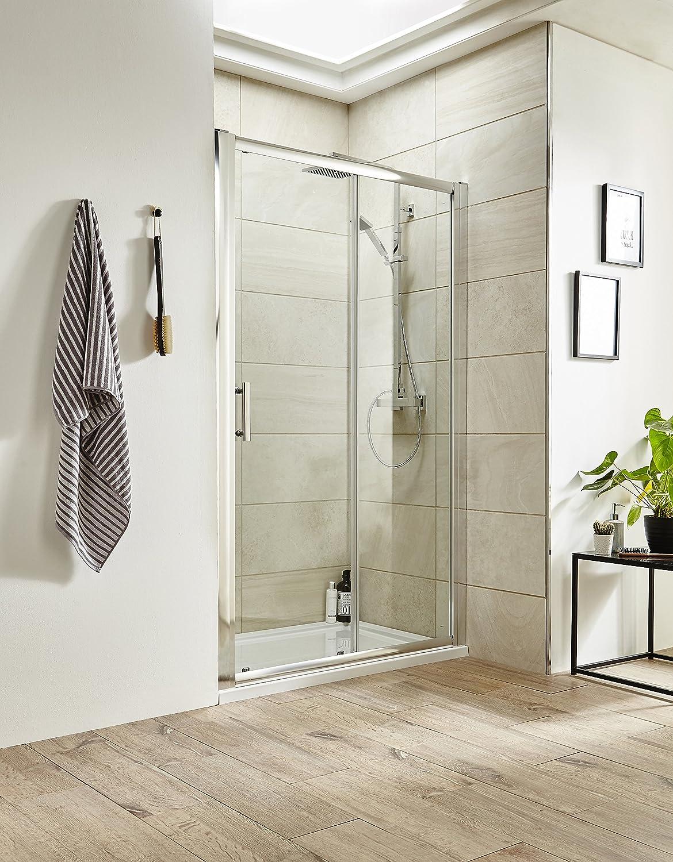 Portadas de ducha UK - 1600 mm deslizante doble para mampara de ducha de: Amazon.es: Bricolaje y herramientas