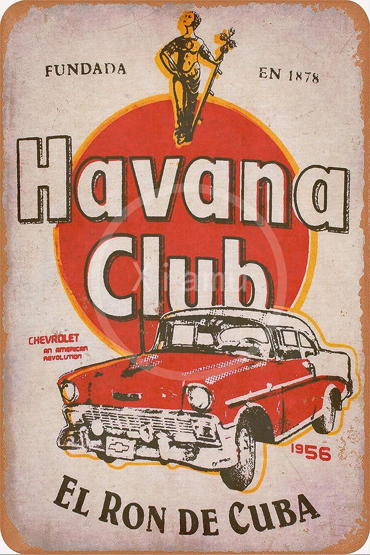 None Brand Havana Club Blechschild Retro Blech Metall Schilder Poster Deko Vintage Türschilder Schild Warnung Hof Garten Cafe Toilette Kneipe Club Geschenk Küche Haushalt