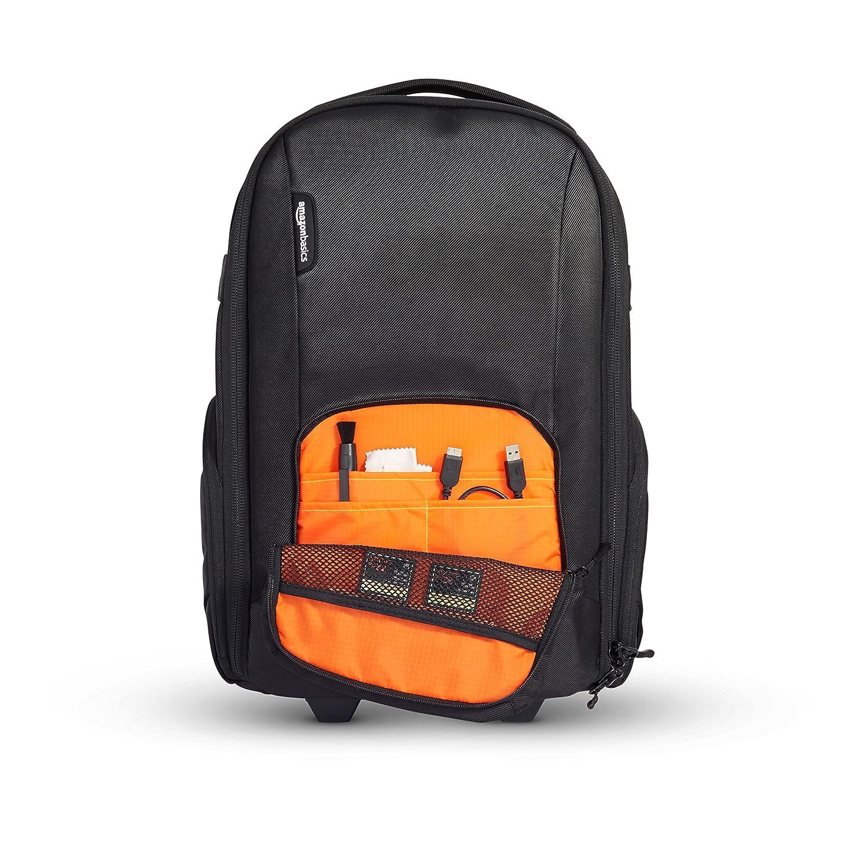 db0ae69ea5 AmazonBasics Sac à dos convertible à roulettes pour appareil photo