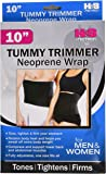 Tummy Fat Burning Belt Waist Trimmer For Men And Women 10In Black One Size Fits All