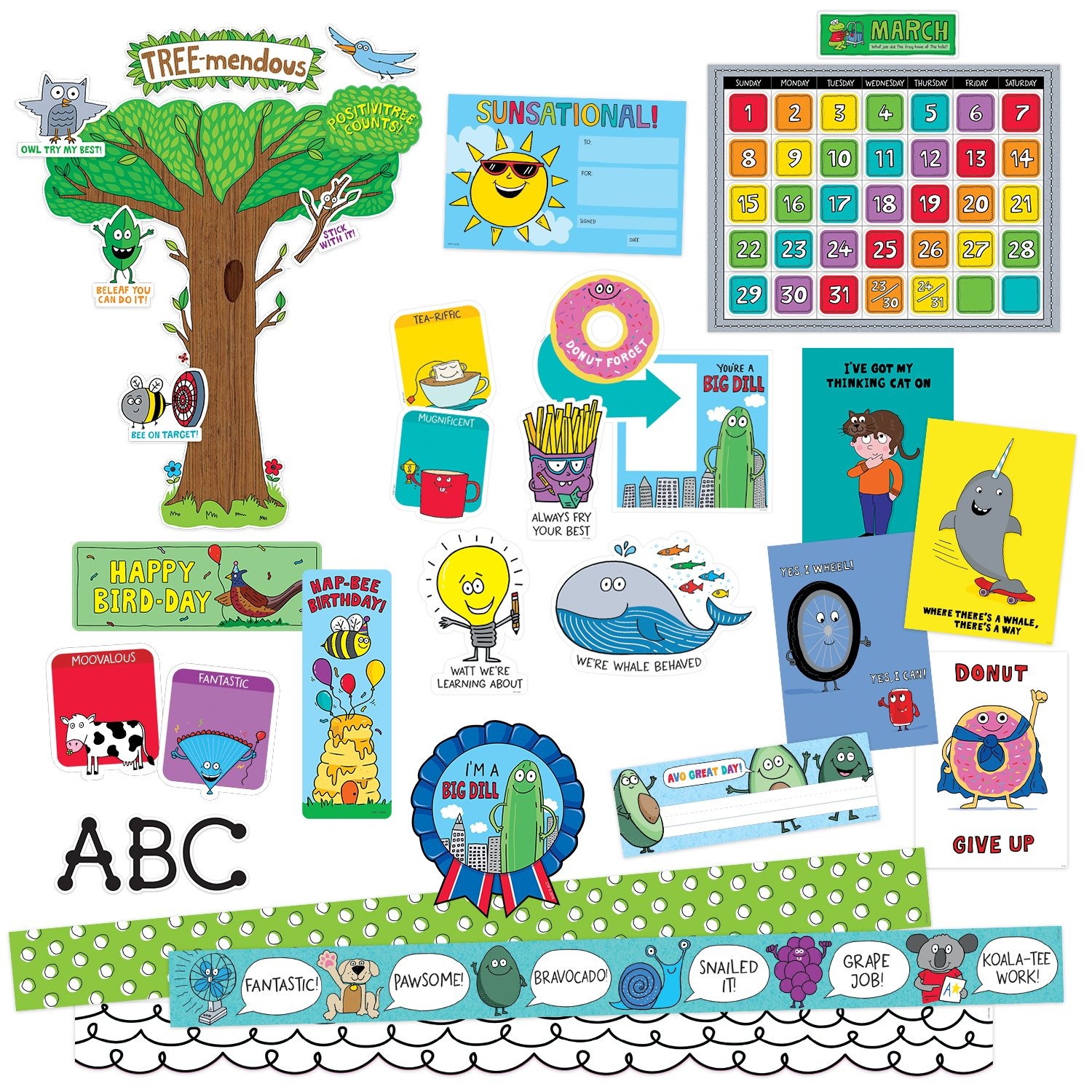 So Much Pun! Collection Classroom Decor Kit