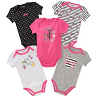 Juicy Couture Baby Girls 5 Packs Bodysuit