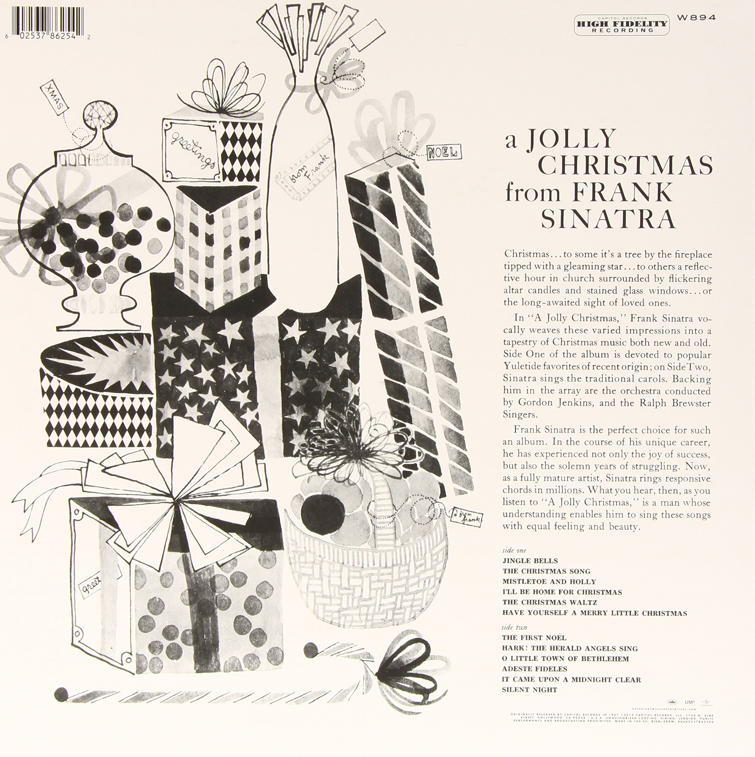 A Jolly Christmas From Frank Sinatra [LP] by Capitol Records