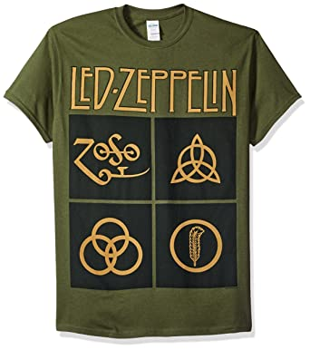 Amazon Fea Mens Led Zeppelin Black Box Symbols Mens T Shirt