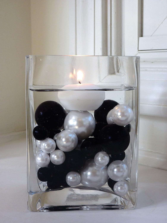 Amazon 80 Black And White Pearls Jumboassorted Sizes Vase