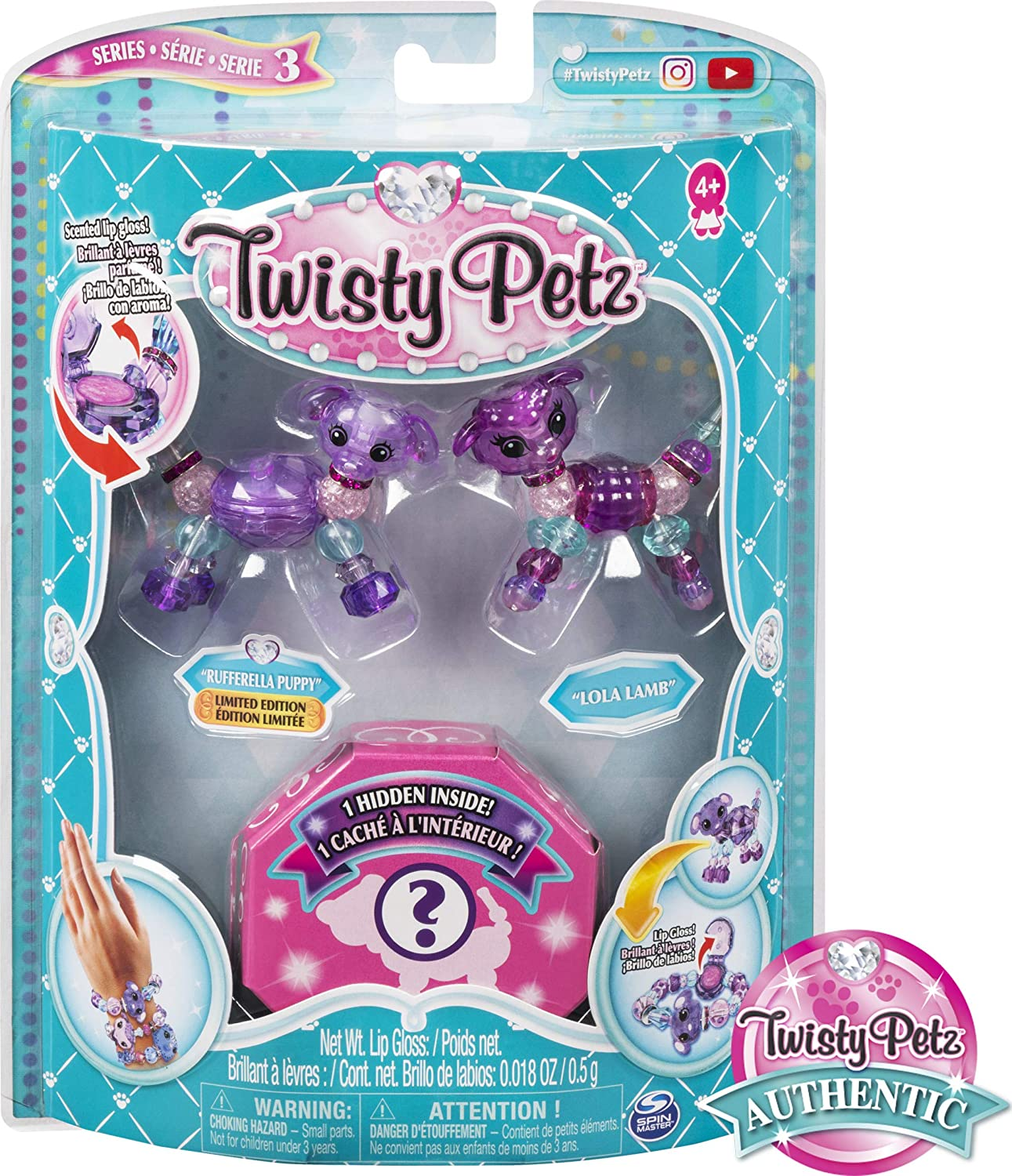Twisty Petz Babies Series 3 Otter Twins and Puppy Twins Collectible Bracelet Set