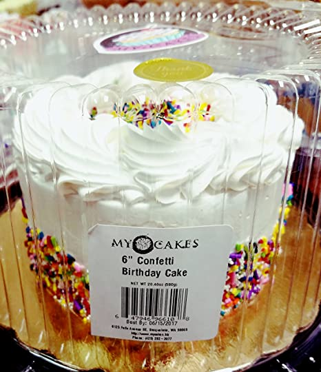 MyCakes 6 Confetti Cake Round 2045 Oz 4 Servings Amazon Grocery Gourmet Food