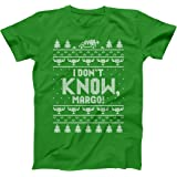 I Don't Know Margo Holiday Vacation Ugly Christmas Funny Xmas Lights Cheer Retro Classic Movie Humor Mens Shirt