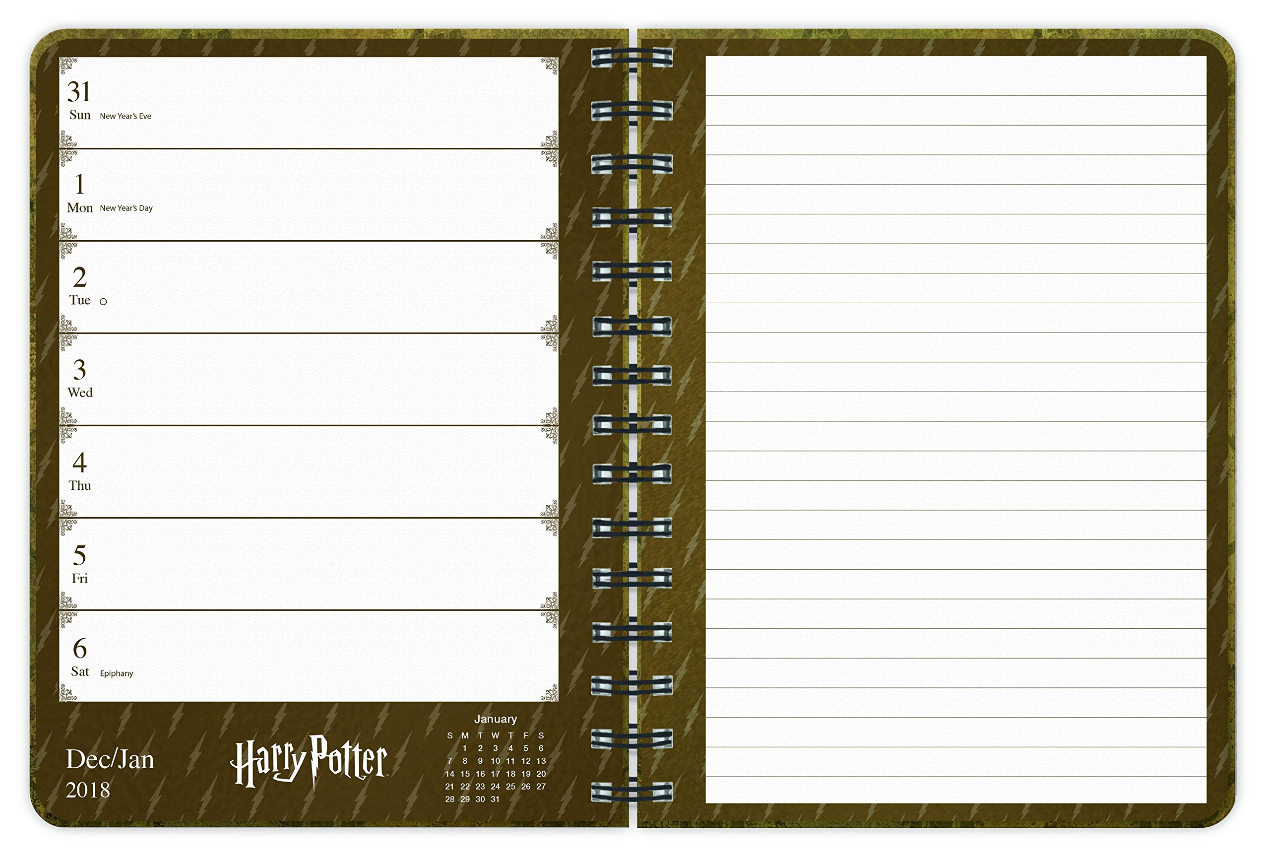 Harry Potter 2018 Weekly Note Planner: Amazon.es: Trends ...