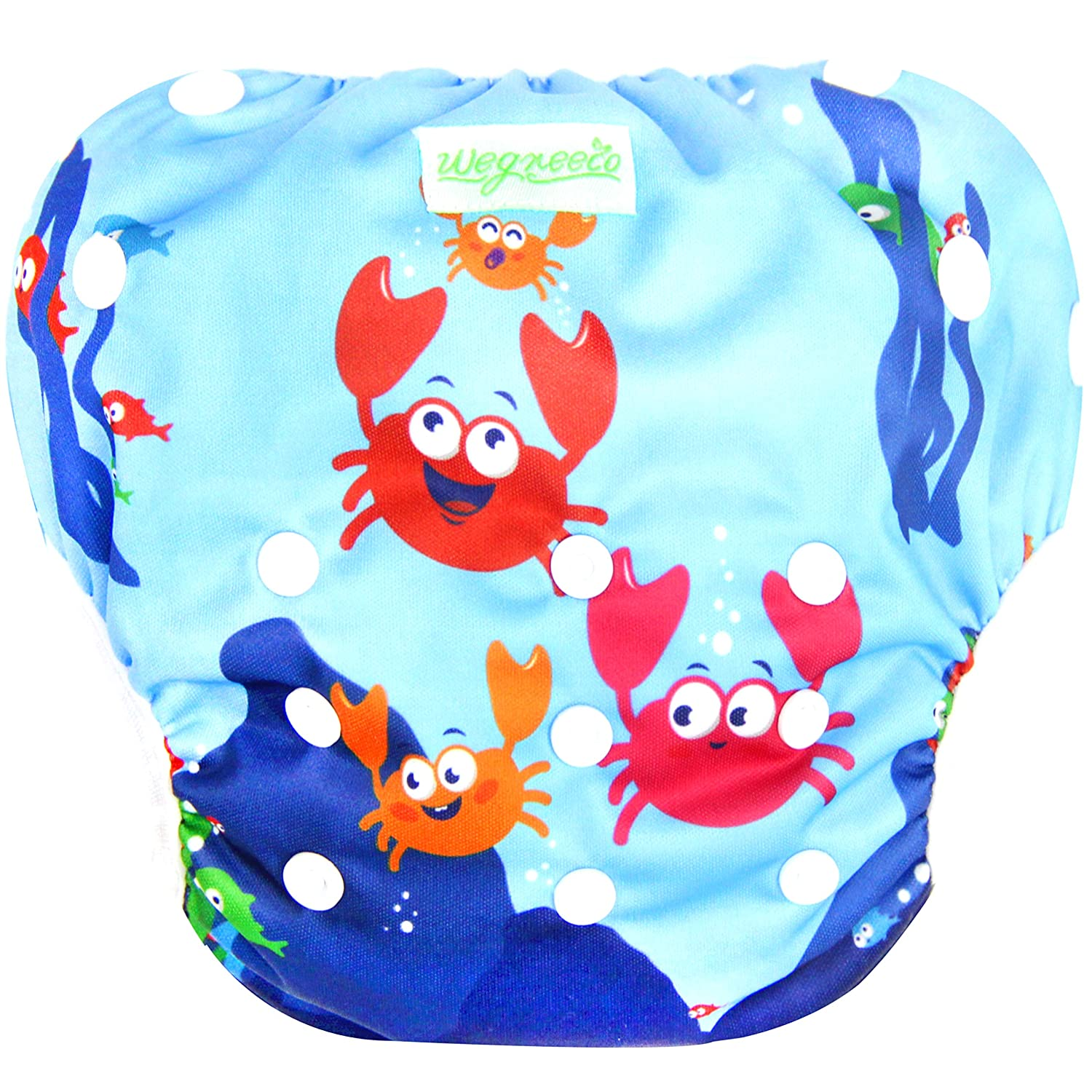 Fruits, Large, 3 Pack Wegreeco Baby /& Toddler Snap One Size Reusable Baby Swim Diaper