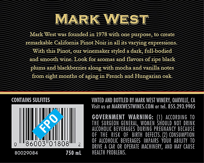 98eba5bac7 Mark West Pinot Noir Red Wine, 750 mL bottle at Amazon's Wine Store