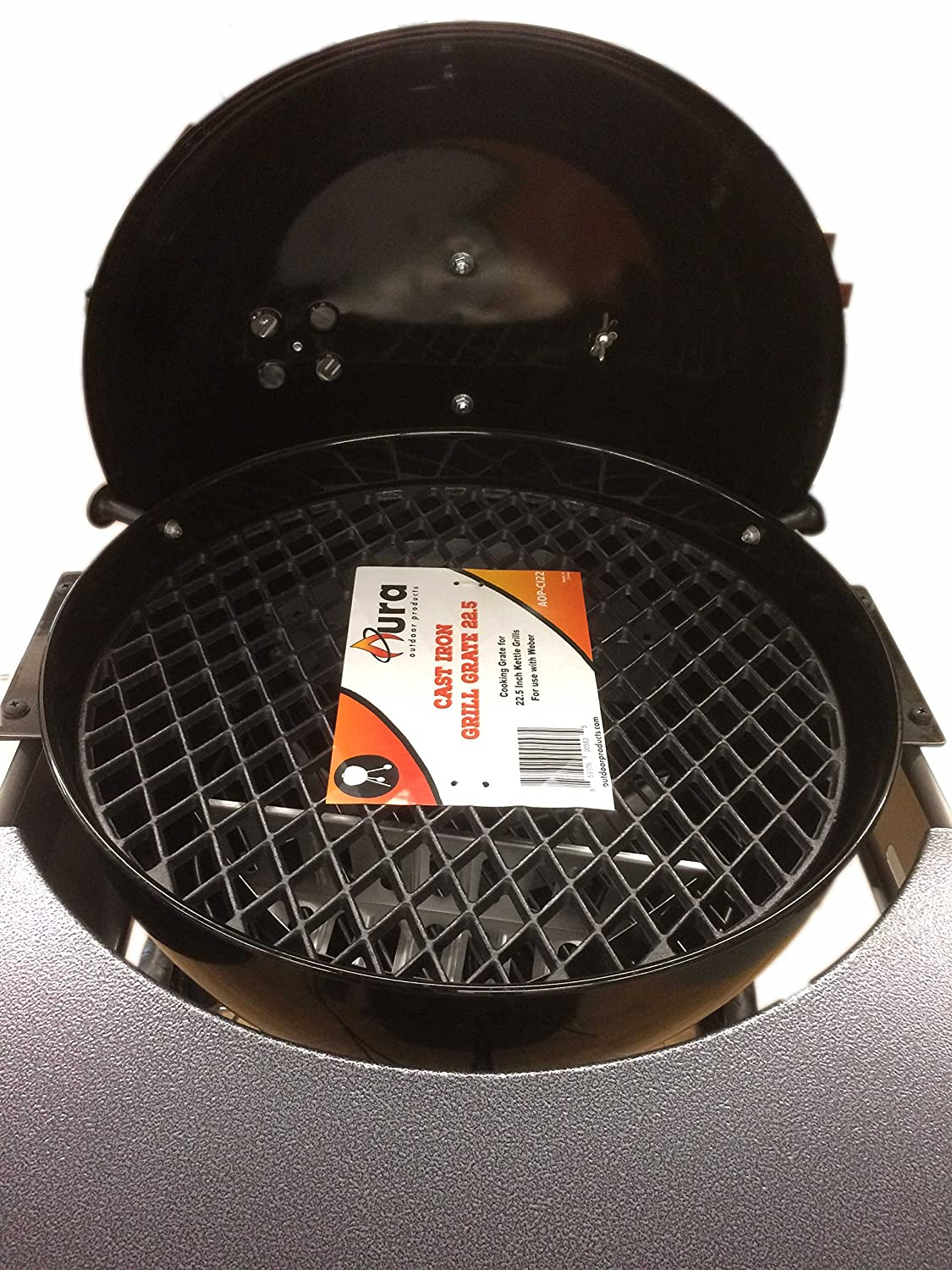 weber kettle 22 cast iron cooking grate. Black Bedroom Furniture Sets. Home Design Ideas