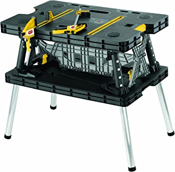 Keter Folding Compact Workbench Sawhorse Work Table