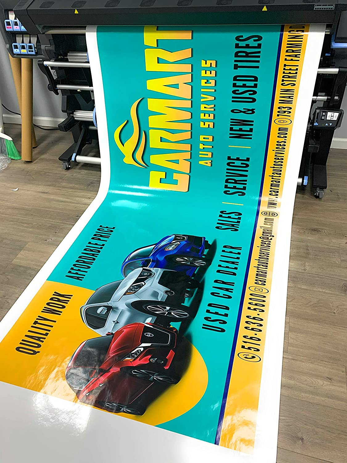 Full Color Folded Edges /& Grommets Free Design 2/' x 7/' Custom Banner