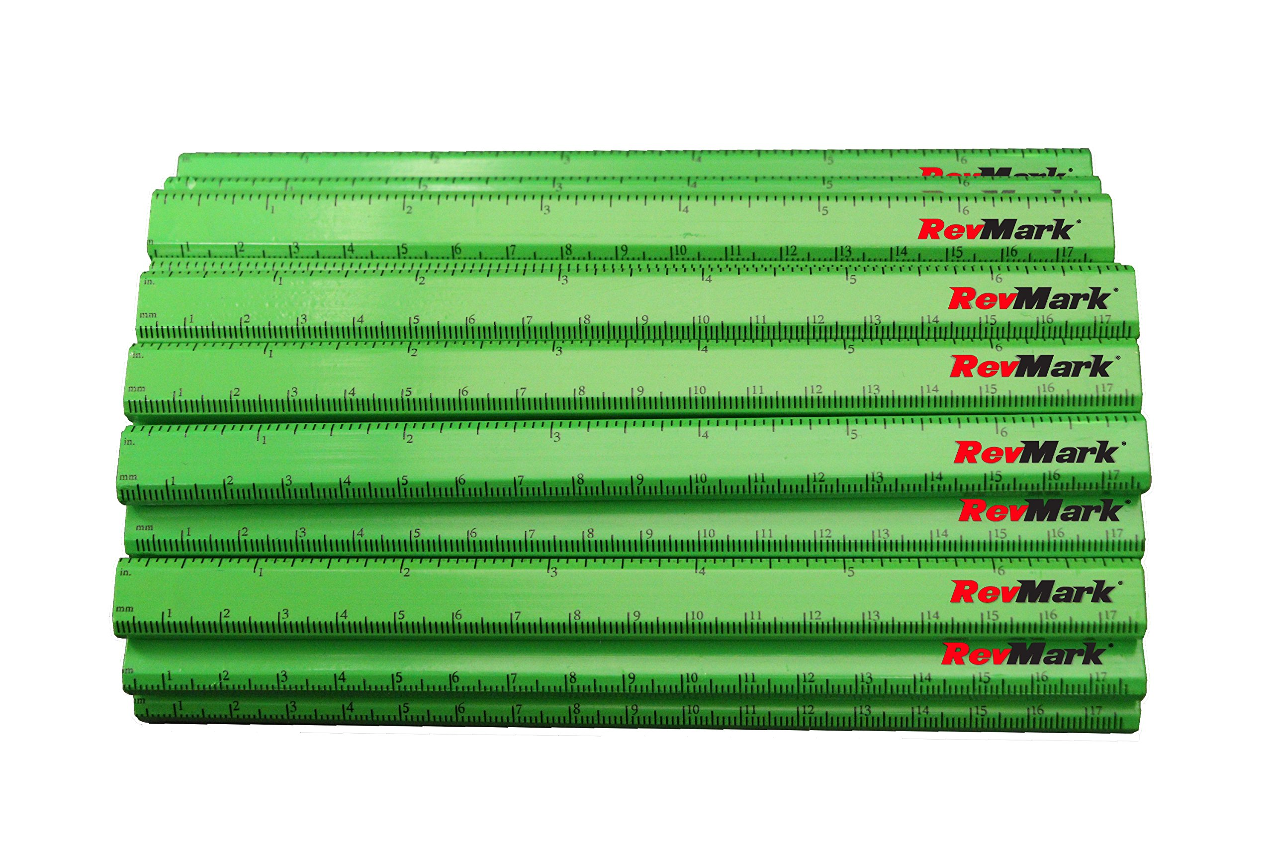 24 Pack - RevMark Carpenter Pencils w/Printed Ruler (Neon Green)