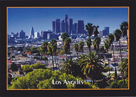 Amazon Com Amtrk037 037 Los Angeles California Card No 037 Postcard The Tallest Office Building On The West Coast Is The Library Tower In Downtown Los Angeles 7 X 5 Postcard