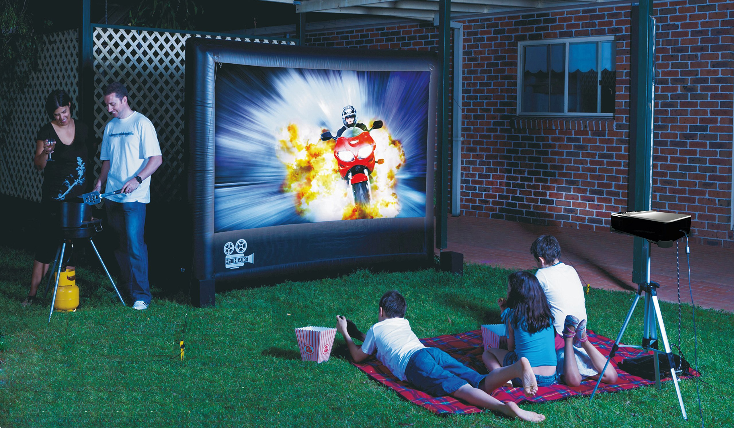 My Theatre Outdoor Entertainment System 100 inch screen by My Theatre
