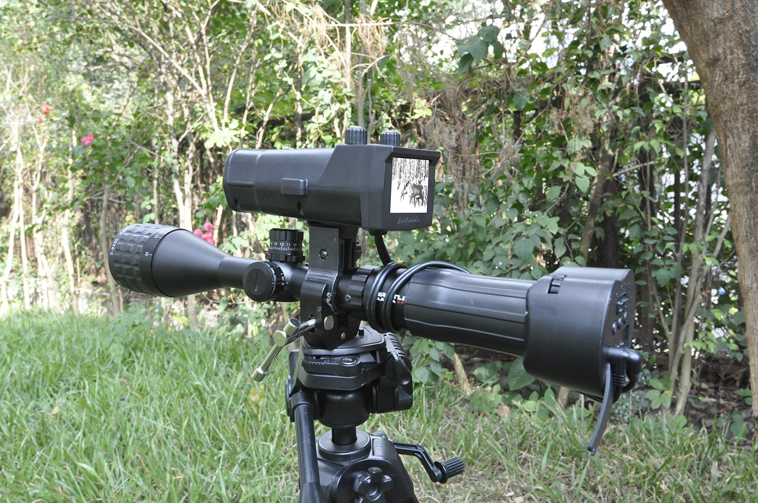 "DOJOYNIGHT 300M / 1000ft / 320 Yards Identification Range Scope Mounted 940NM Infrared Digital Night Vision Systems Recording Photo or Video for Night Hunting with WiFi Function and 4.3"" LCD Screen by DOJOYNIGHT (Image #4)"