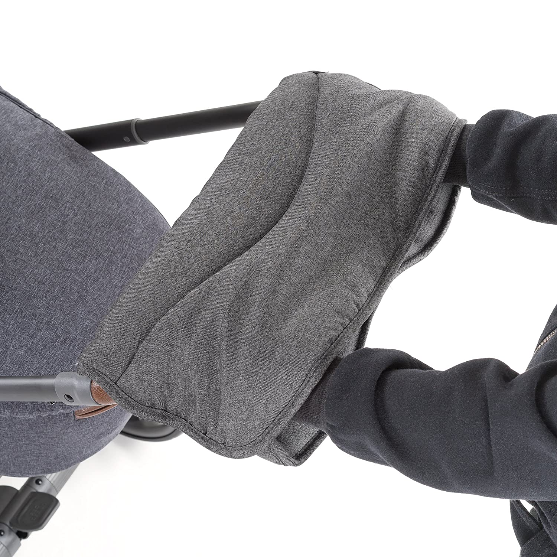 Zamboo Handmuff Handw/ärmer f/ür Kinderwagen Winter Kinderwagenmuff aus Thermo Fleece wasser- und windabweisend Grau atmungsaktiv Sportwagen oder Buggy