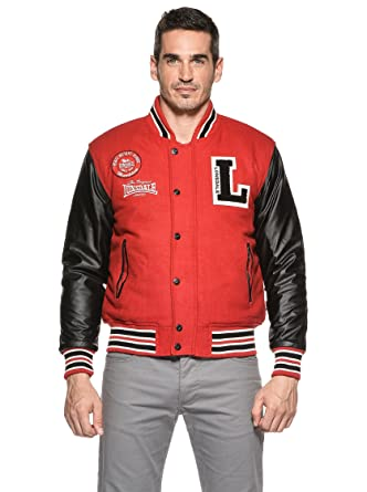 4618ad2769 Lonsdale Mens College Jacket Oxford all Season, Color:dark red, Größe:xxxl:  Amazon.co.uk: Clothing