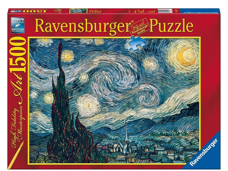 Ravensburger - Van Gogh, Noche Estrellada, puzzle de 1500 piezas (16207 9) puzzle 1500 piezas