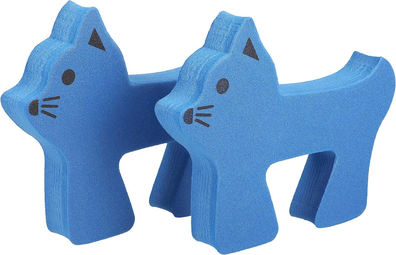 mumbi T/ürstopper Klemmschutz f/ür T/üren und Fenster Kunststoff Katze blau