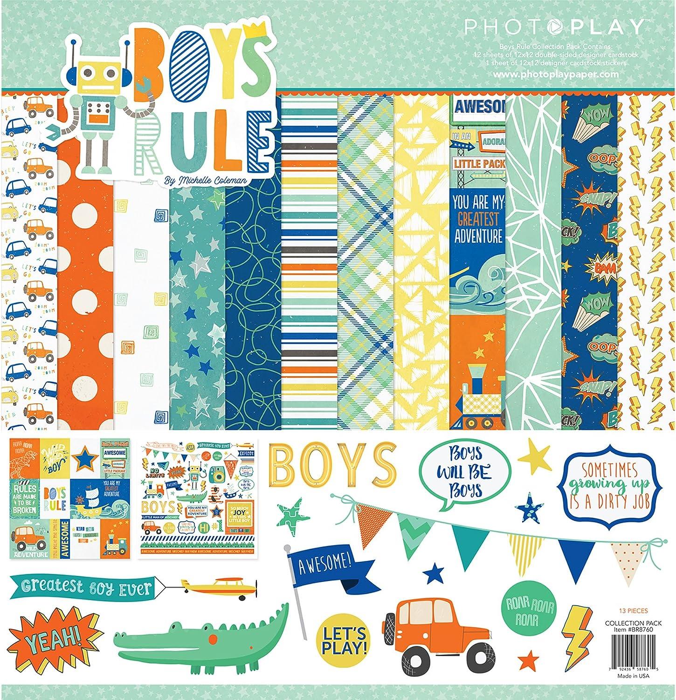 Photoplay Paper Collection - Pack de Reglas para niños, 30,5 x 30,5 cm, Multicolor, 31,75 x 30,48 x 0,51 cm: Amazon.es: Hogar