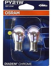 OSRAM DIADEM CHROME Luz de intermitencia PY21W 7507DC-02B doble vida en blister doble