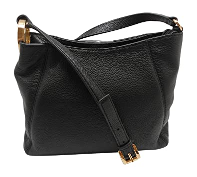 e375f8122642 Michael Kors Fulton Black Leather Medium Messenger Shoulder Crossbody Bag:  Amazon.co.uk: Shoes & Bags