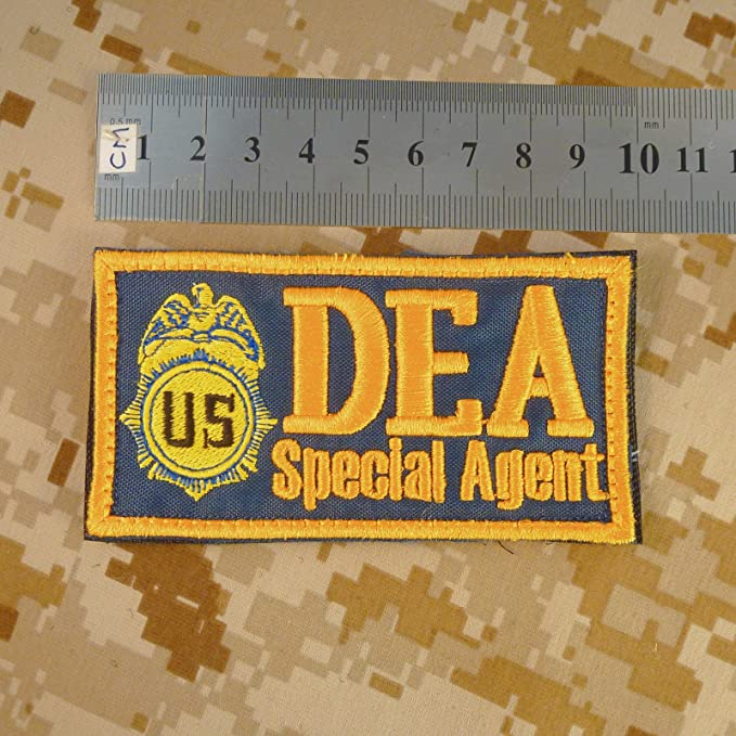 2AFTER1 US DEA Special Agent Federal Drug Enforcement Marshal Dept Justice PVC Rubber Touch Fastener Patch