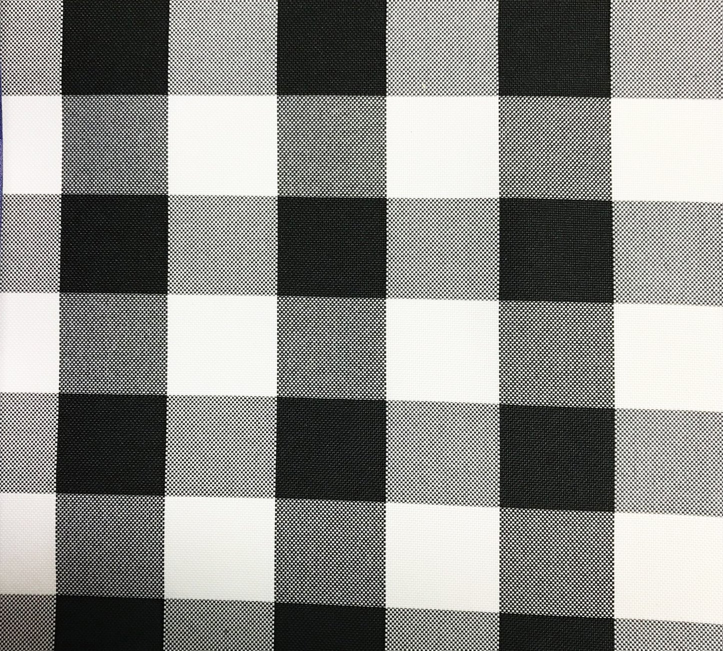GFCC 60x102-Inch Rectangular Polyester Tablecloth Checker,Black and White