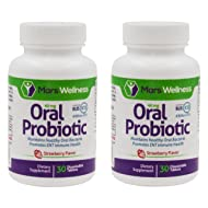 Daily Oral Probiotic Supplement w/BLIS K12 (60 Tablets) 4 Billion CFU Help Maintain Ear, Nose, and Throat Health - 60 Day Supply