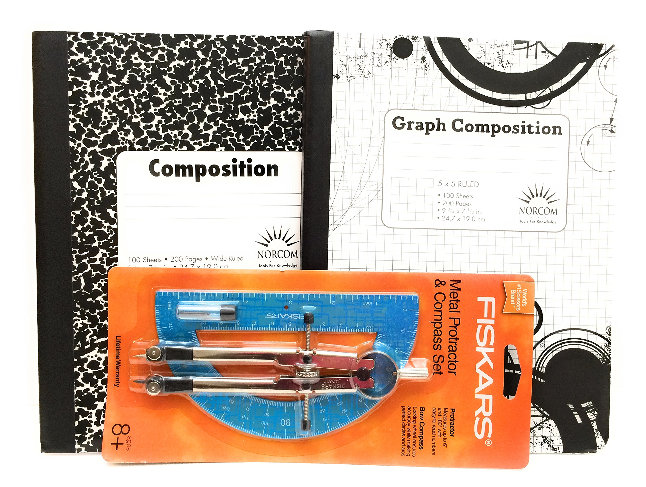 Light Blue Protractor And Graph Book Bundle by Multi-Brands (Image #2)