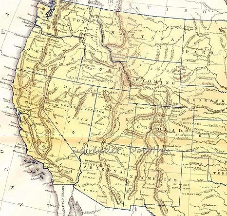 Amazon.com: Home Comforts Laminated Map - West Coast Map USA ...