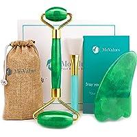 Original Jade Roller and Gua Sha Set - Jade Roller for Face - Face Roller: 100% Real Natural Jade - Face Massager…