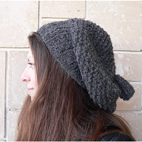 4332a9a448f68 Amazon.com  Slouchy bulky beret hat alpaca wool  030D  Handmade