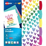 Avery + Amy Tangerine Designer Collection Big Tab Dividers, Rainbow Vibes, 5-Tab Set (11394)